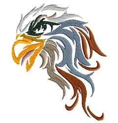 Fancy Hawk Head embroidery design