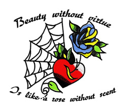 Beauty Without Virtue embroidery design