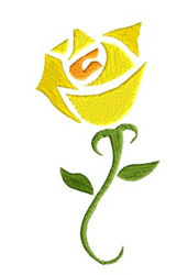 Yellow Rose embroidery design