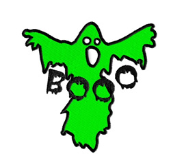 Ghost Booo embroidery design