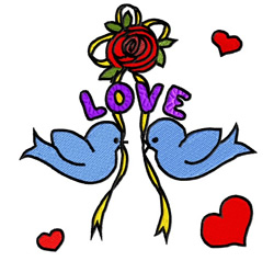 Love Rose embroidery design