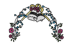 Bells And Flowers embroidery design