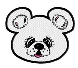 Cute Bear Face embroidery design