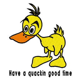 Quackin Good Time embroidery design