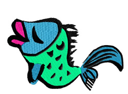 Girl Fish embroidery design