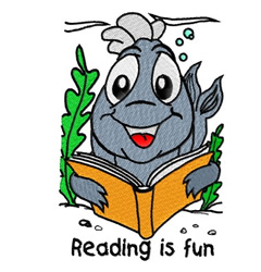 Reading Is Fun embroidery design