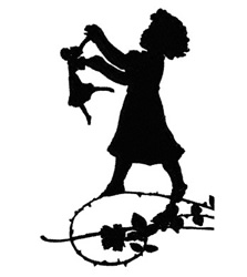 Girl With Doll embroidery design