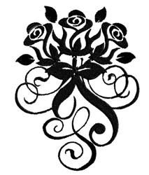 Rose Swirl embroidery design