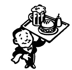 Waiter embroidery design