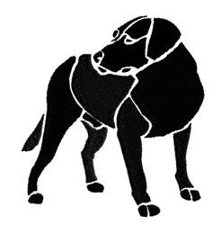 Large Dog embroidery design