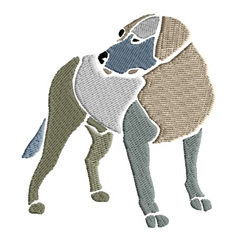 Dog In Gray Shades embroidery design