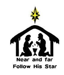 Follow His Star embroidery design