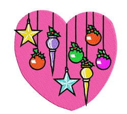 Ornaments On A Heart embroidery design