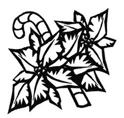 Poinsettia Outline embroidery design