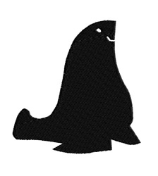 Seal Silhouette embroidery design