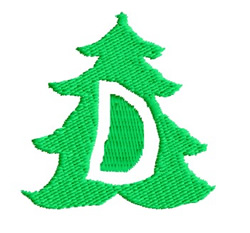 Christmas Tree D embroidery design