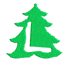 Christmas Tree L embroidery design
