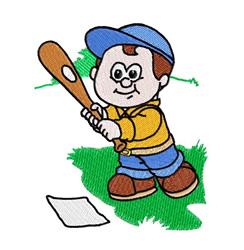 Baseball Boy embroidery design