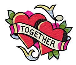 Together embroidery design