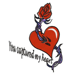 You Captured My Heart embroidery design