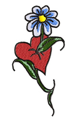 Pierced Heart embroidery design