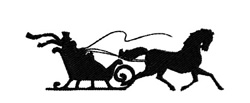 Christmas Sleigh Ride embroidery design