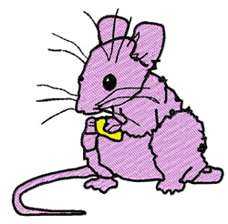 Mouse Eating Cheese embroidery design