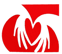Hands In A Heart embroidery design
