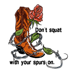 Dont Squat embroidery design