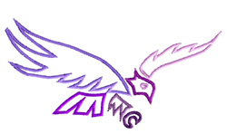 Flying Eagle Outline embroidery design