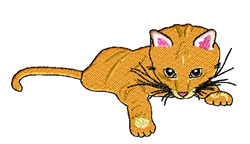 Sneekie The Cat embroidery design