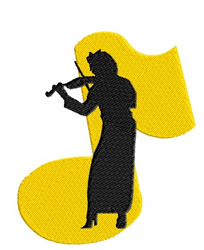 Violinist embroidery design