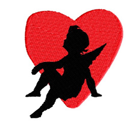 Angel In A Heart embroidery design