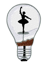 Light Bulb With Ballerina embroidery design