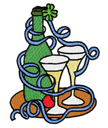 St Patricks Party embroidery design