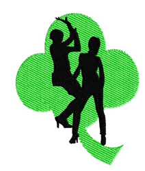 Party Dancers embroidery design