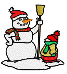 Santa Snowman embroidery design