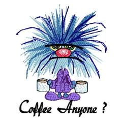 Coffee Anyone embroidery design