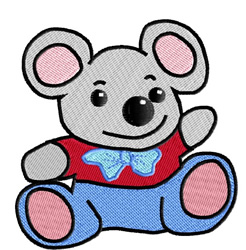Cute Little Mouse embroidery design