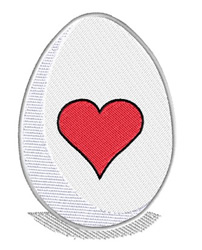 Easter Egg With Heart embroidery design