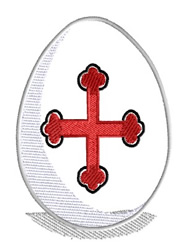 Easter Egg With Cross embroidery design