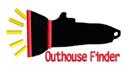 Outhouse Finder embroidery design