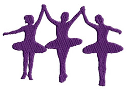 Ballet Girls embroidery design