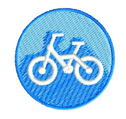 Bicycle Button embroidery design