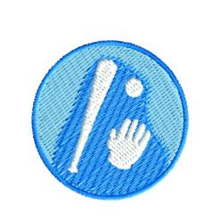 Baseball Button embroidery design