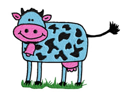 Blue Cow embroidery design