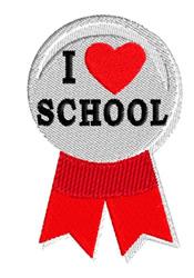 I Love School Button embroidery design