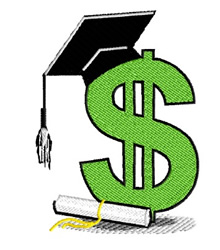 Education Tuition Costs embroidery design