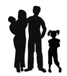 Family Silhouette embroidery design