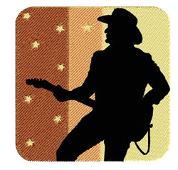 Cowboy Playing Guitar embroidery design
